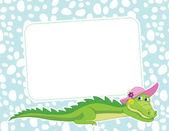 821-Frame with crocodile — Stock Vector