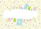 Quadro de roupas de bebê — Vetorial Stock