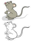 Ratón de la diversión — Vector de stock