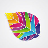 Isolated colored leaf — Stock Vector