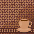 Stock Vector: Background with cup of coffee