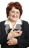 Mature woman in business suit — Stock Photo