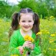 Child girl outdoors — Stock Photo