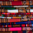 Colorful Peruvian fabric - Stock Photo
