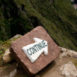 Continue sign — Stock Photo