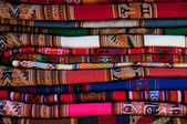 Colorful Peruvian fabric — Stock Photo