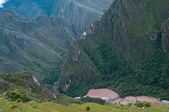 Urumamba river - view from Machu Picchu — Stock Photo