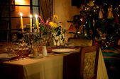 Winters Table Setting — Stock Photo