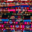 Great Peruvian fabric — Stock Photo