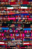 Great Peruvian fabric — Stock Photo