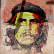 Che Guevara portrait colorfill — Stock Photo