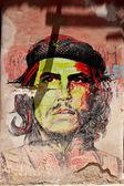 Che Guevara portrait colorfill — Stock Photo