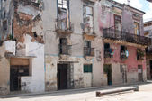 Old house of Havana (stiil inhabited) — Stock Photo