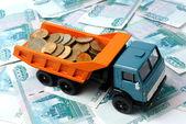 Dinheiro de transporte — Fotografia Stock