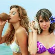Girls with coconut — Stock Photo #5544982