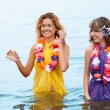 Girls in the water — Stock Photo