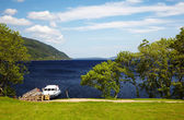 Planked footway on Loch Ness — Stock Photo