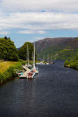 Canal with yachts — Stock Photo
