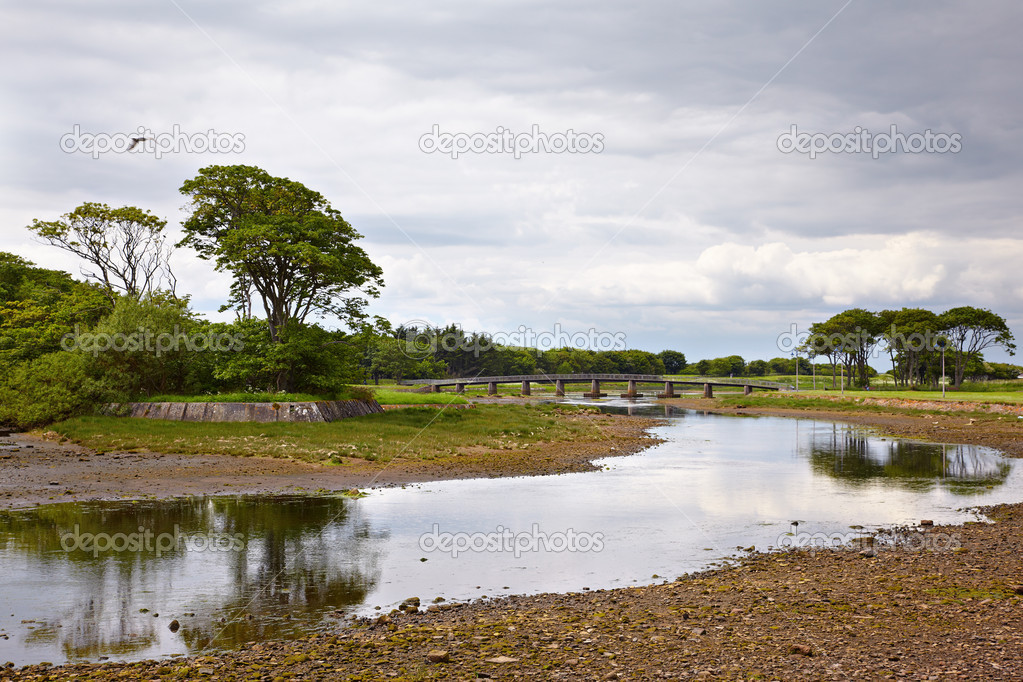 View on bridge over Wick River, Wick, Scotland — Stock Photo #5586639