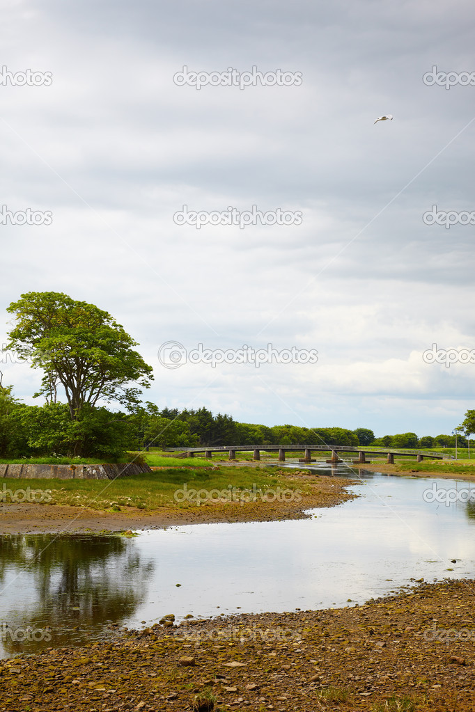 View on bridge over Wick River, Wick, Scotland — Stock Photo #5586646