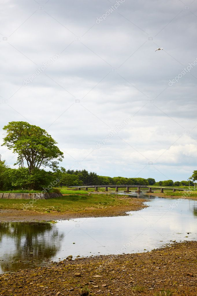 View on bridge over Wick River, Wick, Scotland — Stockfoto #5586646