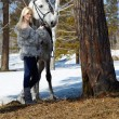 Woman and horse - Photo