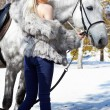 Beautiful girl with horse - Foto de Stock  