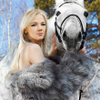 Beautiful girl with horse — Stock Photo #5674506