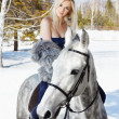 Beautiful girl with horse — Stock Photo #5674520