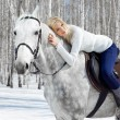 Beautiful girl with horse — Stock Photo #5674627