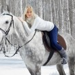 Beautiful girl with horse — Stock Photo #5674633