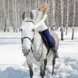 Beautiful girl with horse — Stock Photo #5674652