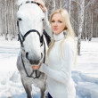 Beautiful girl with horse — Stock Photo #5674678