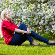 Beautiful blonde outdoors — Stock Photo #5850522