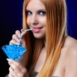 Royalty-Free Stock Photo: Beautiful redhead girl  with gel balls