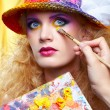 Stock Photo: Painted make up
