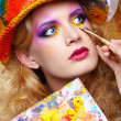 Painted make up — Stok fotoğraf
