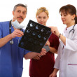 Stock Photo: Two doctors and nurse