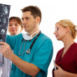 Doctors with tomogram — Stock Photo