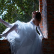 Stock Photo: Bride near window