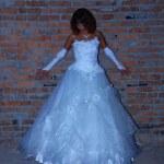 Bride near the wall — Stock Photo #6734367