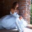Bride near window — Stock Photo