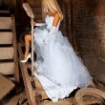 在地下室里的新娘 — 图库照片