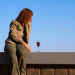 Stock Photo: Girl with wineglass