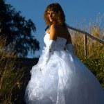 Bride outdoors — Stock Photo