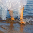Bride on the watter — Stock Photo