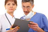 Two doctors — Stock Photo