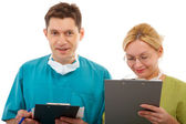 Doctor and nurse — Stock Photo