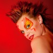 Fire woman — Stock Photo
