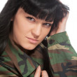 Stock Photo: Army girl